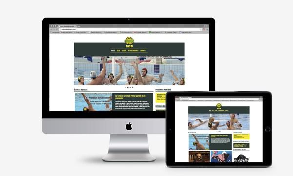 Página web Waterpolo Navarra en WordPress