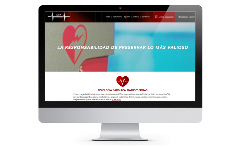 Rediseño web en Wordpress Idm Medical