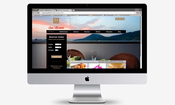 Desarrollo de página web del hotel AH San Fermin en CMS #WordPress