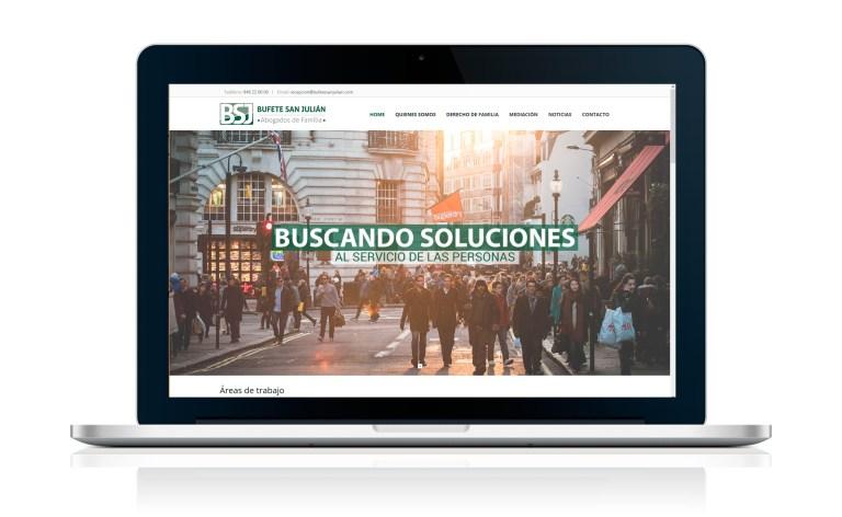 Desarrollo página web en Wordpress Bufete San Julián