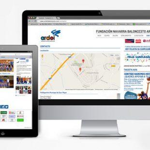 Página web para Fundación Ardoi Baloncesto