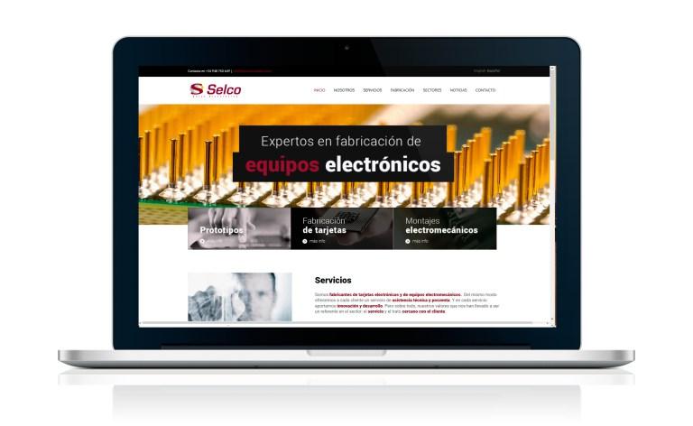 Desarrollo de página web para Electrónica Selco