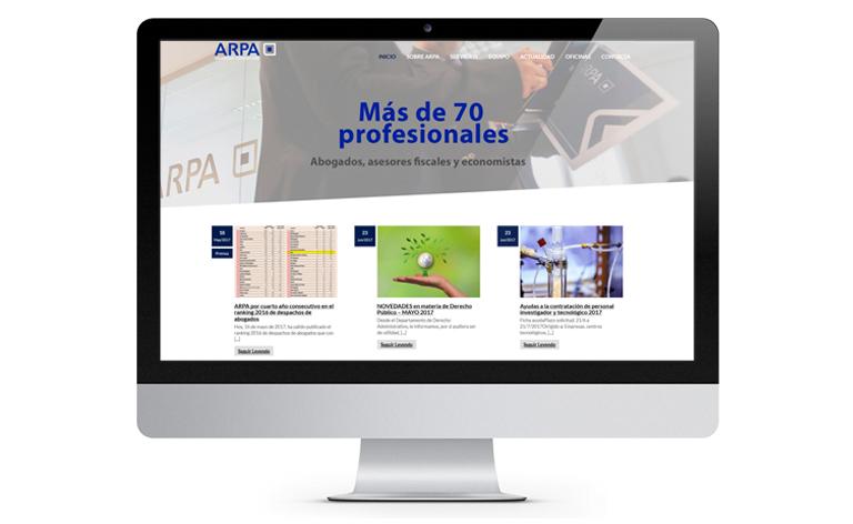 Desarrollo de plataforma para Arpa Abogados