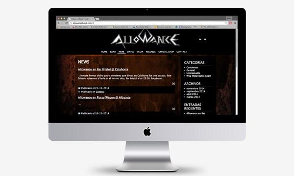 Página web en CMS #WordPress para el grupo #Heavy #Allowance