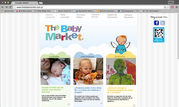 Desarrollo de página web en CMS #Worpress de la feria The Baby Market