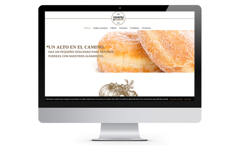 Restaurante 99, rediseño Wordpress
