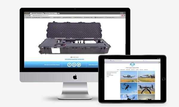 Diseño web Technidrone