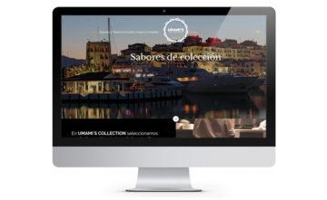 Umami's Collection, Diseño de página web en WordPress