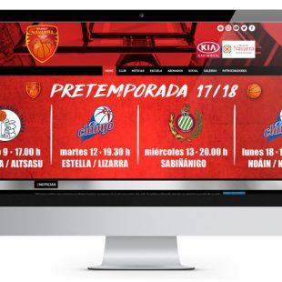 Páginas web en Wordpress Basket Navarra Club