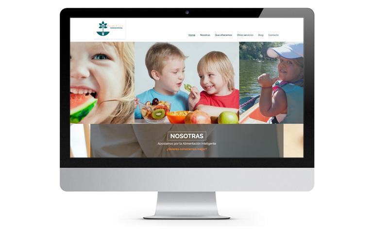 Página web de Nuntia Dietistas WordPress