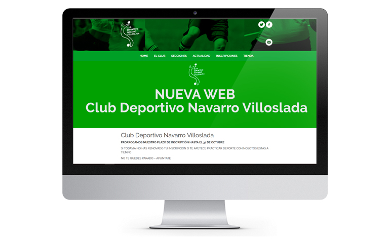 Desarrollo de página web en WordPress Navarro-Villoslada