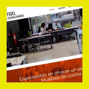 Diseño de página web Fidel Cocinas en WordPress