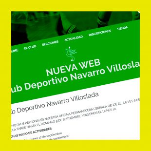 Página Web en WordPress para C.D. Navarro Villoslada